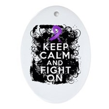 Pancreatic Cancer Keep Calm and Fight On Ornament
