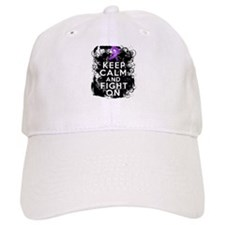 Pancreatic Cancer Keep Calm and Fight On Baseball Cap