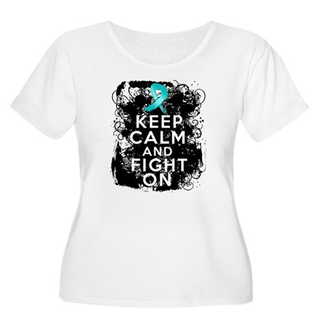Ovarian Cancer Keep Calm and Fight On Women's Plus