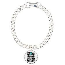 Ovarian Cancer Keep Calm and Fight On Bracelet