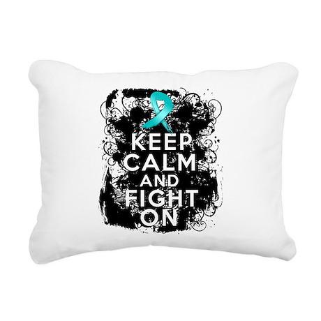 Ovarian Cancer Keep Calm and Fight On Rectangular
