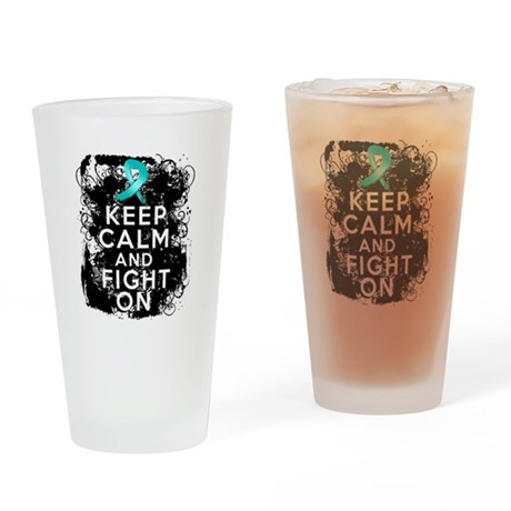 Ovarian Cancer Keep Calm and Fight On Drinking Gla