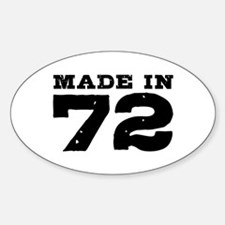 Made In 72 Sticker (Oval)