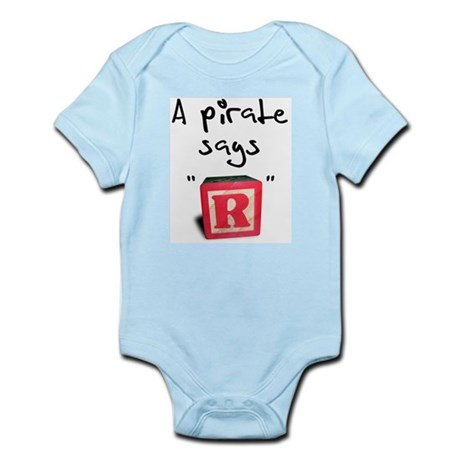 "A pirate says ""R"" Infant Creeper"