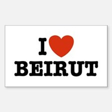 I Love Beirut Rectangle Decal