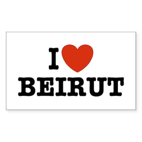 I Love Beirut Rectangle Sticker