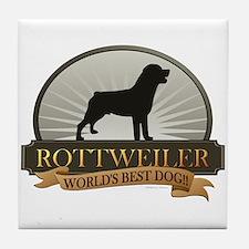 Rottweiler Tile Coaster