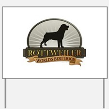 Rottweiler Yard Sign