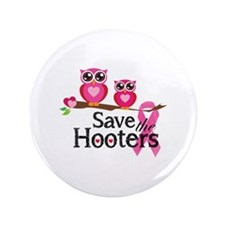 "Save the hooters 3.5"" Button (100 pack)"
