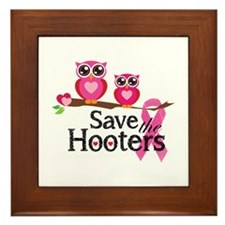 Save the hooters Framed Tile