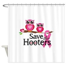 Save the hooters Shower Curtain