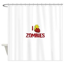 I heart zombies Shower Curtain