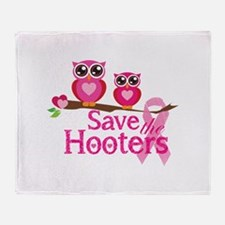Save the hooters Throw Blanket