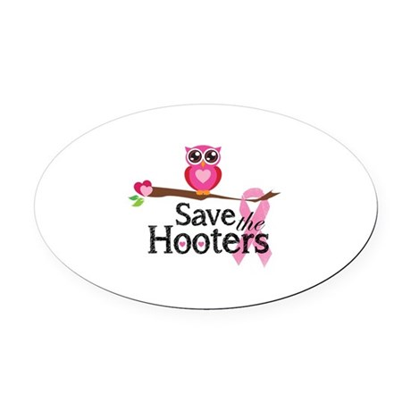 Save the hooters Oval Car Magnet