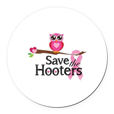 Save the hooters Round Car Magnet