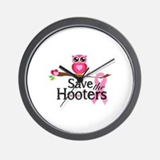 Save the hooters Wall Clock
