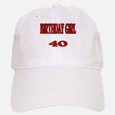 Birthday Girl 40 Baseball Baseball Cap