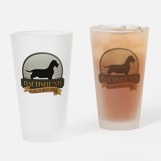 Dachshund [wire-haired] Drinking Glass