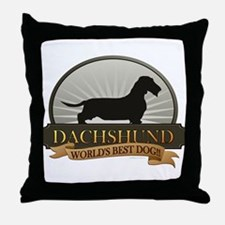 Dachshund [wire-haired] Throw Pillow