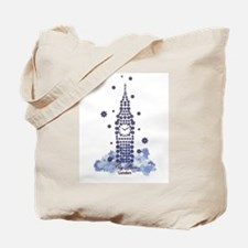 Big Ben Flower Tote Bag