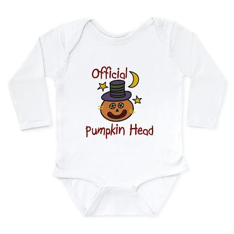 Official Pumpkin Head Long Sleeve Infant Bodysuit