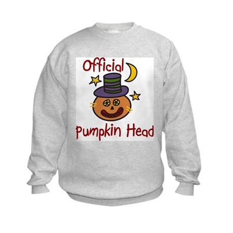 Official Pumpkin Head Kids Sweatshirt