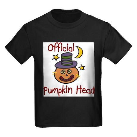 Official Pumpkin Head Kids Dark T-Shirt