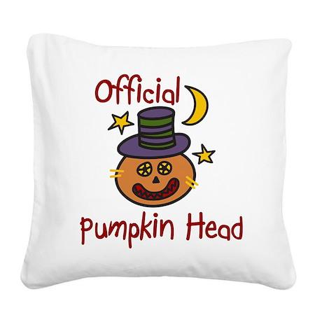Official Pumpkin Head Square Canvas Pillow