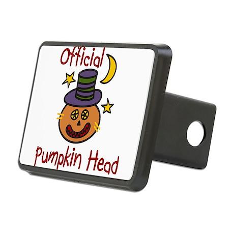 Official Pumpkin Head Rectangular Hitch Cover