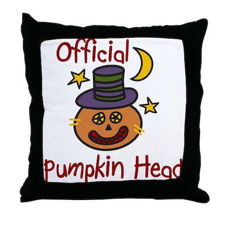 Official Pumpkin Head Throw Pillow