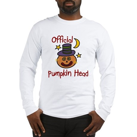 Official Pumpkin Head Long Sleeve T-Shirt