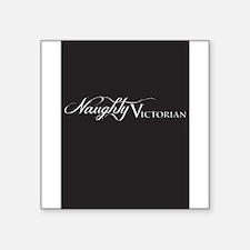 "Naughty Victorian Square Sticker 3"" x 3"""