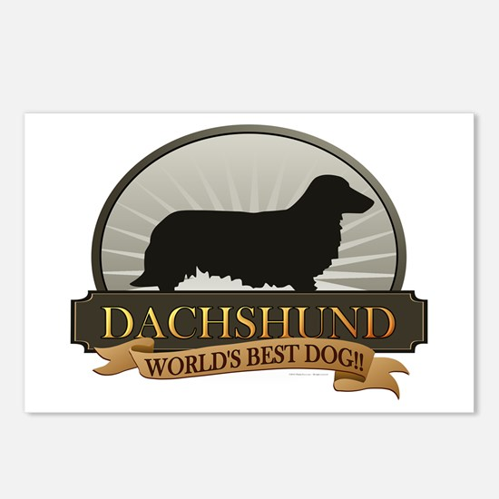 Dachshund [long-haired] Postcards (Package of 8)