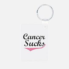 Cancer sucks Keychains