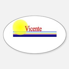 Vicente Oval Decal