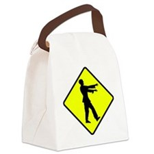Caution: Zombies Canvas Lunch Bag