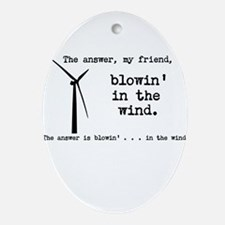 blowin in the wind Ornament (Oval)