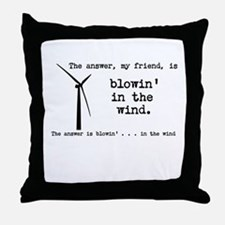 blowin in the wind Throw Pillow