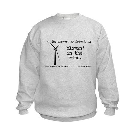 blowin in the wind Kids Sweatshirt