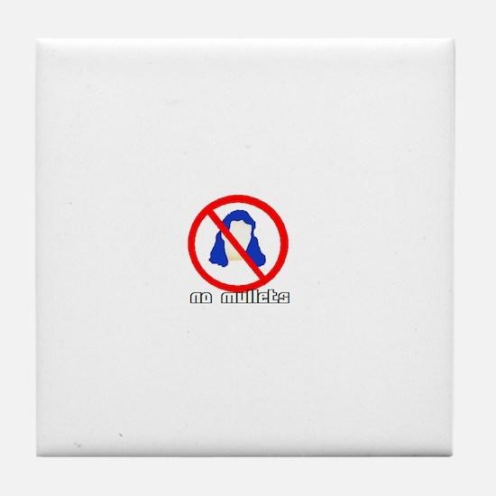 No Mullets Tile Coaster