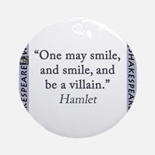 One May Smile, and Smile Round Ornament