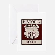 Santa Monica Route 66 Greeting Card
