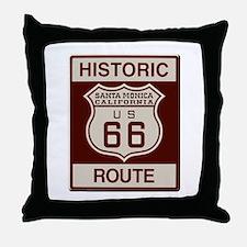 Santa Monica Route 66 Throw Pillow