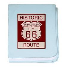 Santa Monica Route 66 baby blanket