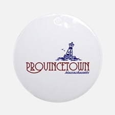Provincetown Massachusetts Ornament (Round)