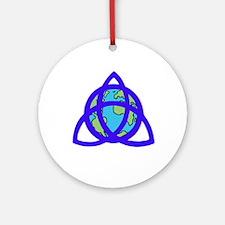 Triqeutra Earth Ornament (Round)