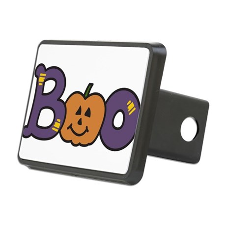 Halloween Boo Rectangular Hitch Cover