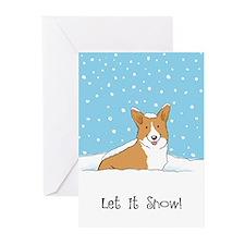 Happy Snow Corgi Greeting Cards (Pk of 10)