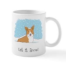 Happy Snow Corgi Mug