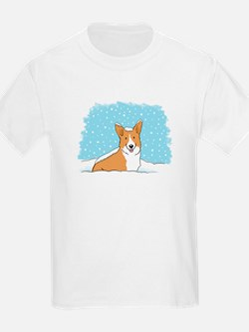 Happy Snow Corgi T-Shirt